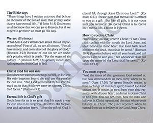If you died tonight Baptist Tract Sample 2